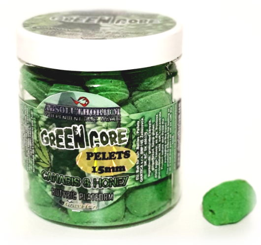 Pelety 150g Absoluthorium Green core Canabis honey 15mmPelety 150g 80g Green core Canabis honey 15mm