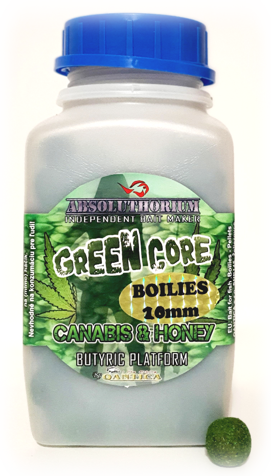 Boilies 1kg Absoluthorium Green core Canabis honey 20mm